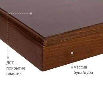 Столешница ДСП+пластик, кромка массив (26 мм)